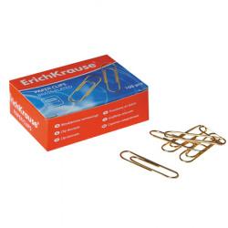 Скрепки 33мм 100шт медные овальные Erich Krause 24868 картонная коробка