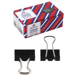 Зажимы для бумаг 25мм черные набор 12шт Attomex 4131302 картонная коробка