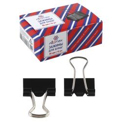 Зажимы для бумаг 32мм черные набор 12шт Attomex 4131303 картонная коробка