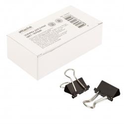 Зажимы для бумаг 32мм, набор 12шт, цвет черный, картонная коробка ECONOMY Attache 933327