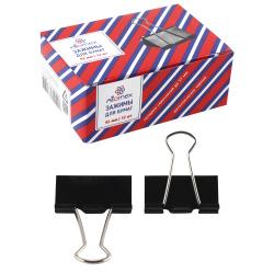 Зажимы для бумаг 41мм черный набор 12шт Attomex 4131304 картонная коробка