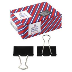 Зажимы для бумаг 51мм черные набор 12шт Attomex 4131305 картонная коробка