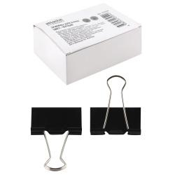 Зажимы для бумаг 51мм, набор 12шт, цвет черный, картонная коробка ECONOMY Attache 933329