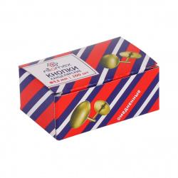Кнопки канцелярские 9,5мм 100шт медные Attomex 4132300 картонная коробка