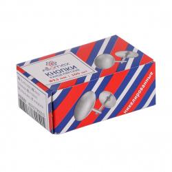 Кнопки канцелярские 9,5мм 100шт никелированные Attomex 4132301 картонная коробка
