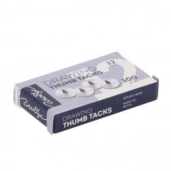 Кнопки канцелярские 12мм 100шт металлические К12-100 картонная коробка