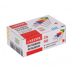 Кнопки силовые 50шт 20мм флажки deVENTE 4130500 цветные картонная коробка