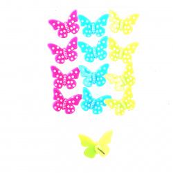 Butterfly Кнопки-силовые, длина иглы 12мм, 12шт, металл, пластик, цвет ассорти, ПВХ deVENTE 4132101