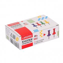 Кнопки силовые 100шт 9мм deVENTE 4132309 цветные картонная коробка