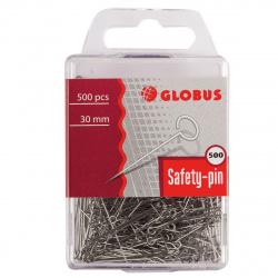 Булавки офисные 30мм 500шт Globus 4130501/Б30-500 пластиковая упаковка