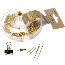 Набор мелкоофисных принадлежностей deVENTE My gold 4133800 пластиковая коробка европодвес