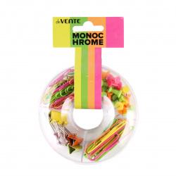 Набор мелкоофисных принадлежностей deVENTE Monochrome 4133001 пластиковая коробка европодвес