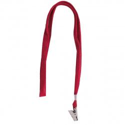 Лента для бейджей 40см металлический клип deVENTE 4010701 красная