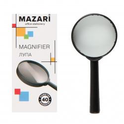 Лупа 40мм, увеличение 2-х кратное, пластик, картонная коробка Mazari M-5584