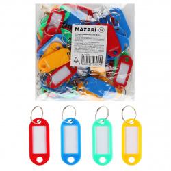 Брелоки для ключей 60мм, инфо-окно 15*30мм Mazari M-2390 ассорти
