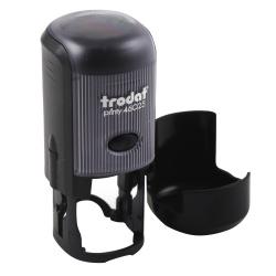 Оснастка для печатей d-25мм цвет оттиска синий TRODAT 46025 крышка, подушка в комплекте корпус черный