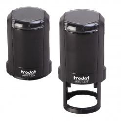 Оснастка для печатей d-30мм цвет оттиска синий TRODAT 4630 крышка, подушка в комплекте корпус черный