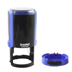 Оснастка для печатей d-42мм, подушка в комплекте (синяя), цвет оттиска синий TRODAT 4642