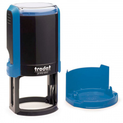 Оснастка для печатей d-42мм цвет оттиска синий TRODAT 4642 крышка, подушка в комплекте корпус синий