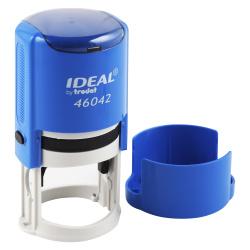 Оснастка для печатей d-42мм цвет оттиска синий TRODAT IDEAL 46042 крышка, подушка в комплекте корпус синий