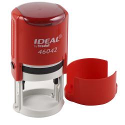 Оснастка для печатей d-42мм цвет оттиска синий TRODAT IDEAL 46042 крышка, подушка в комплекте корпус красный