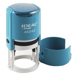 Оснастка для печатей d-42мм цвет оттиска синий TRODAT IDEAL 46042 крышка, подушка в комплекте корпус бирюзовый