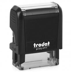 Оснастка для штампа 38*14мм цвет оттиска синий TRODAT 4911 подушка в комплекте корпус черный
