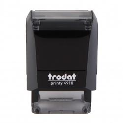 Оснастка для штампа 26*9мм цвет оттиска синий TRODAT 4910 P4 подушка в комплекте корпус серый
