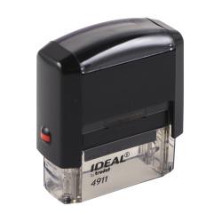 Оснастка для штампа 38*14мм цвет оттиска синий TRODAT IDEAL 4911 Р2 подушка в комплекте корпус черный