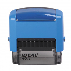 Оснастка для штампа 38*14мм цвет оттиска синий TRODAT IDEAL 4911 Р2 подушка в комплекте корпус синий