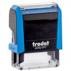 Оснастка для штампа 38*14мм цвет оттиска синий TRODAT 4911 подушка в комплекте корпус синий
