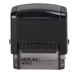 Оснастка для штампа 47*18мм цвет оттиска синий TRODAT IDEAL Р2 4912 подушка в комплекте корпус черный