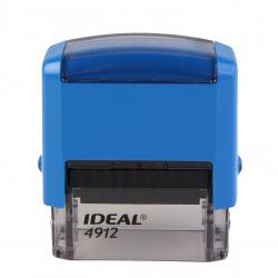 Оснастка для штампа 47*18мм цвет оттиска синий TRODAT IDEAL Р2 4912 подушка в комплекте корпус синий