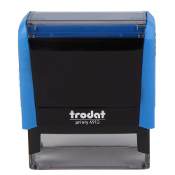 Оснастка для штампа 58*22мм цвет оттиска синий TRODAT 4913 подушка в комплекте корпус синий