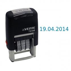 Датер-мини месяц цифрами 20*3мм цвет оттиска синий deVENTE 4111304 подушка в комплекте корпус черный