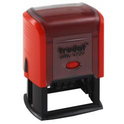 Датер со свободным полем месяц буквами 50*30мм цвет оттиска синий TRODAT PRINTY 4729 подушка в комплекте корпус красный