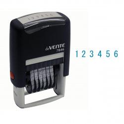 Нумератор 6-разрядный 25*4мм цвет оттиска синий deVENTE 7846/4114300 подушка в комплекте корпус синий