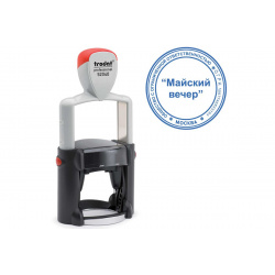 Печать самонаборная 1,5 круга d-40мм цвет оттиска синий, касса в комплекте TRODAT PRINTY R1 52040 корпус черный