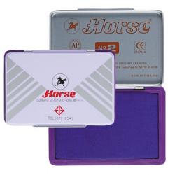 Штемпельная подушка   штемпельная подушка, 70*110мм, цвет чернил фиолетовый, материал корпуса металл Horse №2