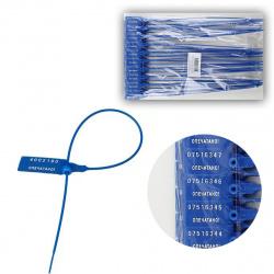 Пломба пластиковая номерная длина рабочей части 330мм комплект 50 шт 196377 синяя