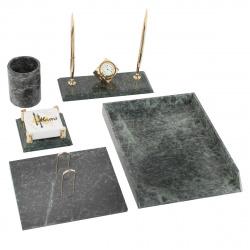 Набор настольный Delixe 6 предметов, мрамор, цвет зеленый deVENTE 9023900