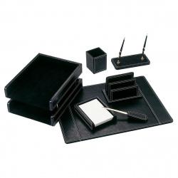 Набор настольный 7 предметов, МДФ/искусственная кожа, цвет черный Good Sunrise 811878