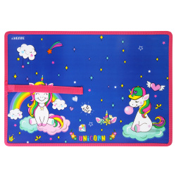 Настольное покрытие Magic Unicorn детское, 300*420мм, рисунок, цвет синий deVENTE 8061111