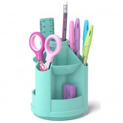 Канцелярский набор 8 предметов, вращающаяся, цвет мятный Mini Desk Erich Krause 53690