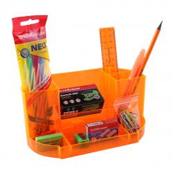 Канцелярский набор 12пр Erich Krause Victoria Neon 52880 оранжевый