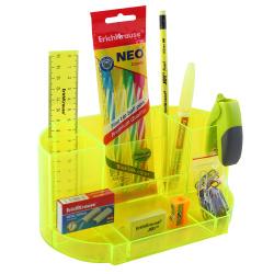 Канцелярский набор 12пр Erich Krause Victoria Neon 52881 желтый