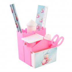 Канцелярский набор детский 5пр КОКОС Macaroons Pastel 210366