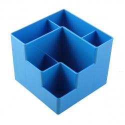 Настольная подставка для канцелярских принадлежностей 6отд Оскол Пласт голубая