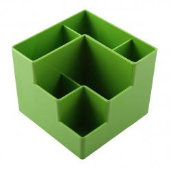 Настольная подставка для канцелярских принадлежностей 6отд Оскол Пласт П-6СО зеленая