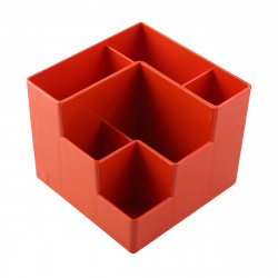 Настольная подставка для канцелярских принадлежностей 6отд Оскол Пласт П-6СО оранжевая
